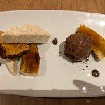 Banana & caramel dessert