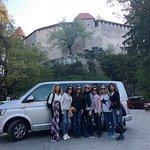 Con Mirja en el Castillo de Bled