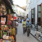 One of the many streets in Stone Town