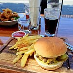 Giant Cheeseburger with Freshly-Made Steak Fries