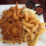 Salty's Shrimp Feast w/ 1pc Cod