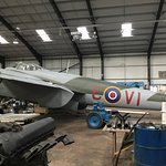 This is the de Havilland Mosquito at the East Kirkby Museum next the June Jane the Lancaster.