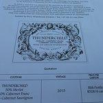 Thunderchild wine.