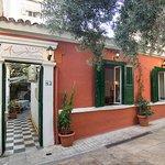 Avli restaurant, located at Methonis 43, Exarchia