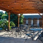 The patio at Vino Latte Wausau
