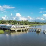 The Wharf Restaurant is located on the historic Jekyll Pier. Know for seafood and live music