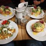 Vejce Benedikt a vaječná omeleta