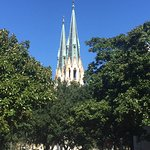 the steeples of St Johns Cathedral