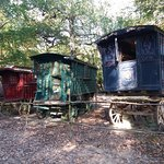 Poor gypsy caravans left to rot...