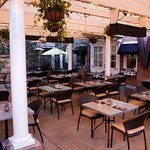 This is our covered patio a coveted spot by all of our guests.