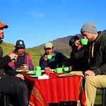 Desayuno en Tastayoc, Cusco. Camping breakfast