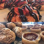 Danishes, scones, jammy tarts.