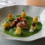 Lobster, green curry, pineapple