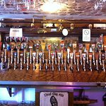 The wall of beer taps