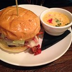 Game Time Burger and beer cheese soup at Glenwood Canyon Brewing Co.