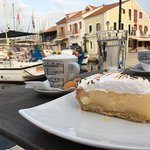 Lemon pie with a view.
