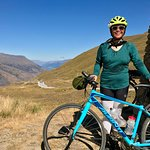 At the top of Crown Pass! It's all downhill to Queenstown.