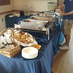 The lunch Buffet Table
