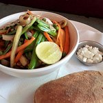 Laughing Buddha Salad - made with fresh & seasonal ingredients at the Laughing Buddha Cafe