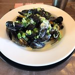 Kenmare Mussels in a White Wine, Garlic and Herb Cream with Homecut Fries