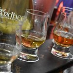 Ardbeg whisky sampling