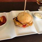 mini hamburguesa de langostinos