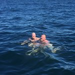 Swimming in the deep Gulf of Mexico!