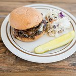 BBQ Bacon Burger with Sweet Slaw