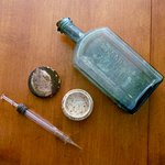 CW period medical supplies found hidden in the house during the restoration.