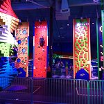 Vibrant Colors of the Climbing Walls and Structures