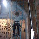Web climb 15 feet to the wall.