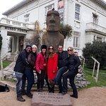 Nossa guia Veronica e o Moai