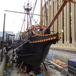 See the deer on the stern? That's the Golden Hinde