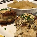 Crab cakes were delicious, as were the apples as a side.