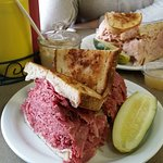 Corned beef and turkey sandwiches