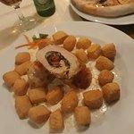 chicken + vegetabled + sauce + potatoes..