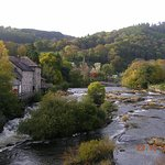 View from Llangollen Bridge (The Corn Mill on the left)