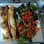 Crepes and salad. VERY filling