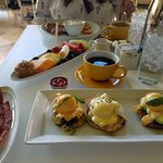 Eggs Benedict and Seasonal Fruit Platter