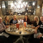 Wonderful Round Table with Chandelier adn Candelabres.