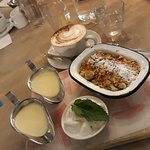 Apple Crumble with Ice Cream and Double Custard!