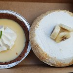 Coconut cream and key lime!