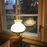 Вид из-за столика у окна
