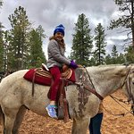 My daughter and the horse she picked.