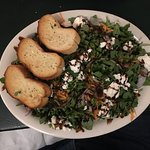 Baby Arugula Salad - great healthy option on their outstanding menu.
