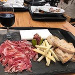 Mix plater - 24 month black ham and local cheeses with a 12 year old port...delicious