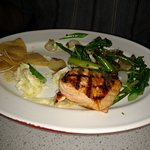 Salmon, veggies
