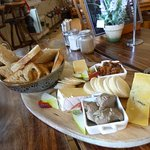 Cheese and pate platter