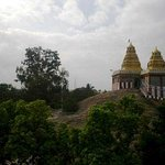Distant view of the temple