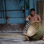 Basket weaver in the Cholon section of HCMC.